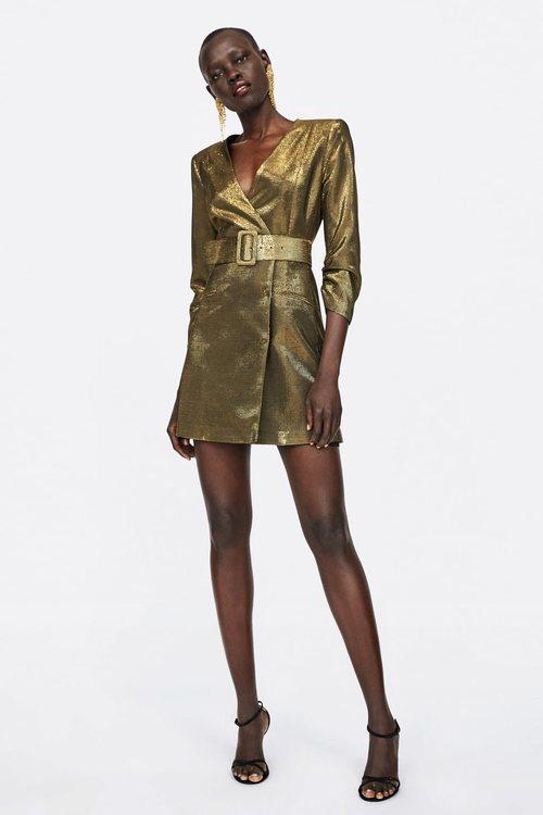 Vestido blazer de la colección de Navidad de Zara 2018