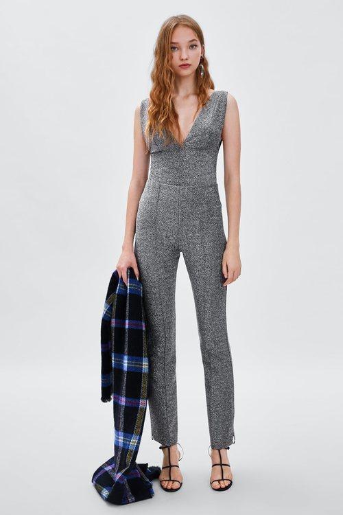 Mono plateado de la colección de Navidad de Zara 2018