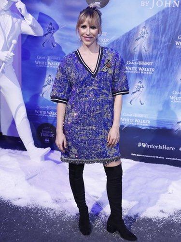 Nika posa con un mini vestido en el evento de Johnnie Walker:Juego de Tronos