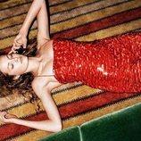 Mini vestido rojo de lentejuelas de la colección 'Zara Night Fever'
