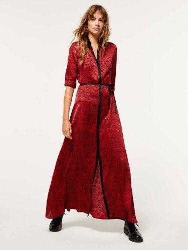 Vestido largo rojo colección de Navidad de Sisley 2018