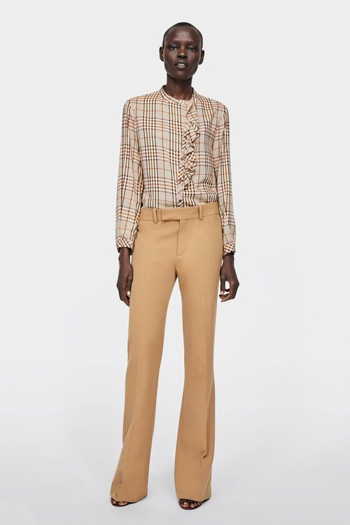 Modelo camisa de cuadros nueva colección Zara 2018