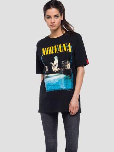 Camiseta oversize de Nirvana de la colección cápsula de Replay 2018