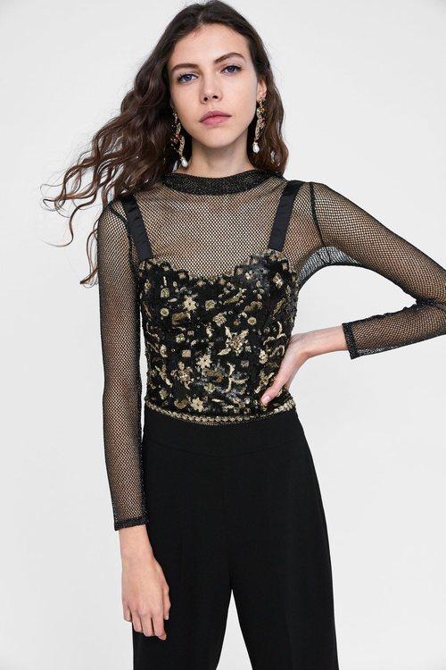 Top de rejilla de la colección otoño/invierno 2018/2019 de Zara