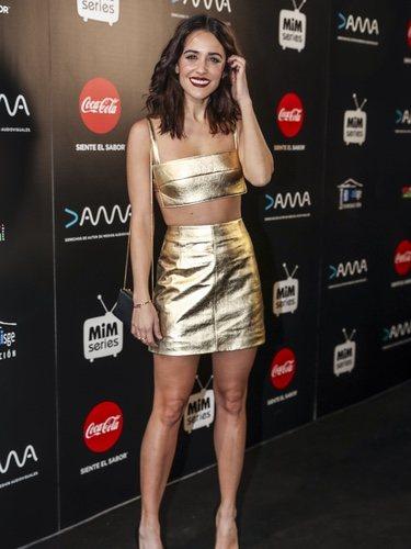 Macarena García posa deslumbrante en la gala de los Premios Mim Series 2018