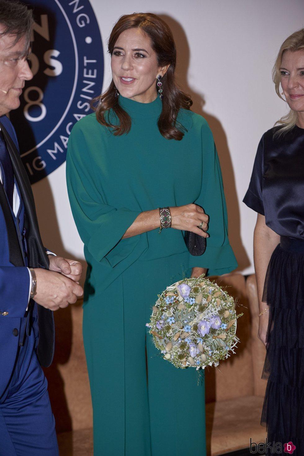 La Princesa Mary de Dinamarca presidiendo un evento de moda en Copenhage