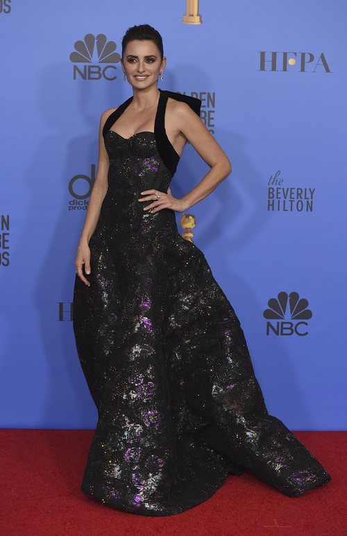 Penélope Cruz con un vestido de Ralph & Russo en los Globos de Oro 2019