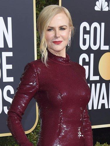 Nicole Kidman con un vestido de Michael Kors en los Globos de Oro 2019