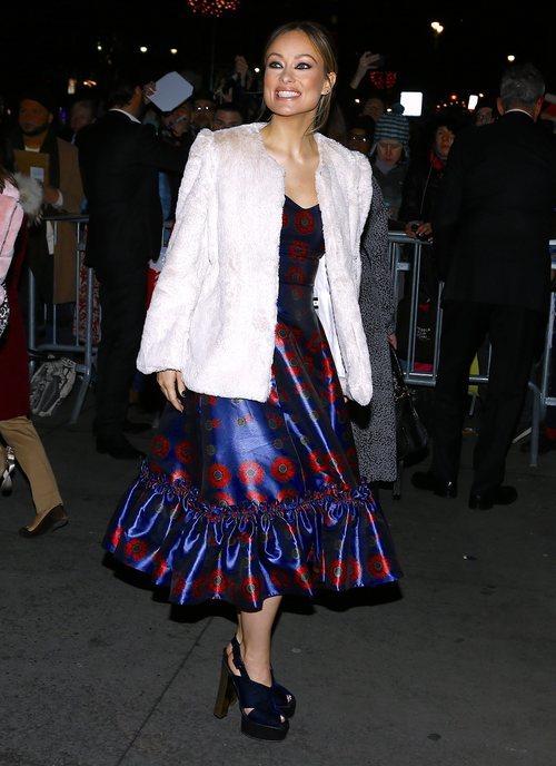 Olivia Wilde con un vestido de raso en los National Board of Review Annual Awards 2019
