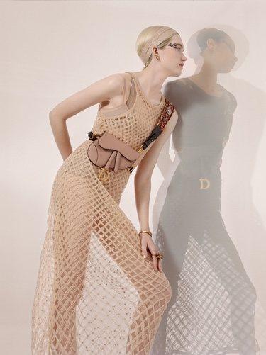Vestido de rejilla colección primavera/verano 2019 de Dior