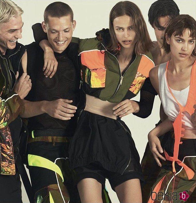 Imagen de la campaña primavera/verano 2019 de Dsquared2 con Irina Shayk