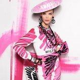 Traje rosa de la colección primavera 2019 de Moschino