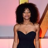 Rachel Adedeji con vestido negro en los National TV Awards 2019