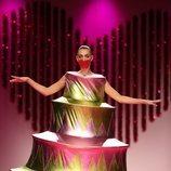 Vestido piramidal de la colección otoño/invierno 2019-2020 de Ágatha Ruiz de la Prada