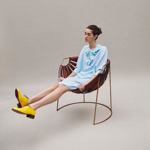 Vestido azul claro colección Pre-Fall 2019 de Delpozo