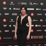 Lola Dueñas con vestido largo negro en los Premios Gaudí 2019