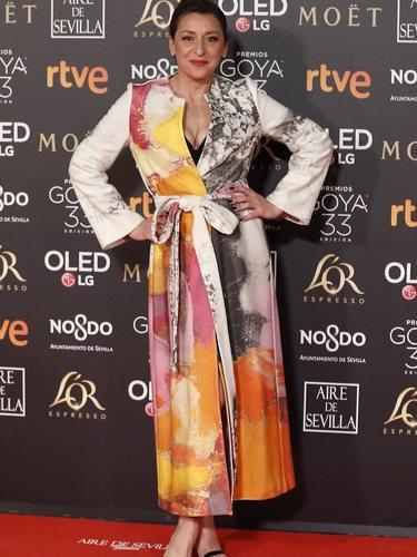 Mariola Fuentes vestida por Leandro Cano en los Premios Goya 2019