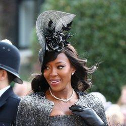 Naomi Campbell en la boda real en Londres