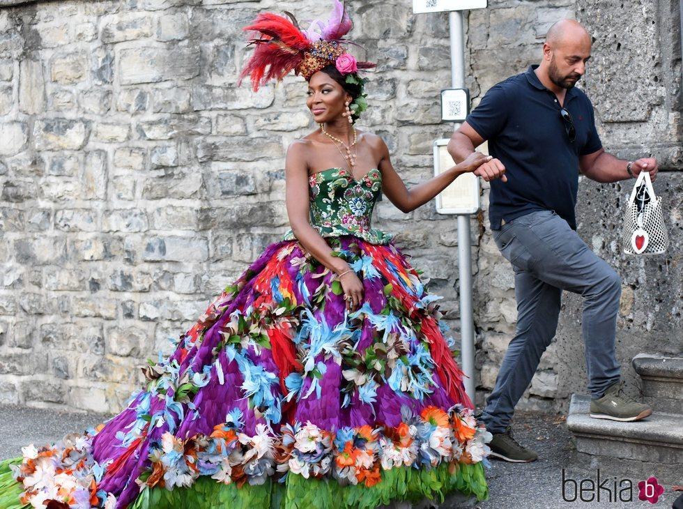 Naomi Campbell en la Dolce Gabbana fashion show
