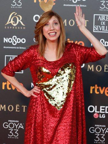 Pilar Ordoñez con vestido de lentejuelas de Agatha Ruiz de la Prada en los Premios Gota 2019