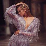 Vestido corto lavanda de la colección primavera/verano 2019 de 'Atelier Versace'