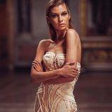 Vestido corto en color nude de la colección primavera/verano 2019 de 'Atelier Versace'