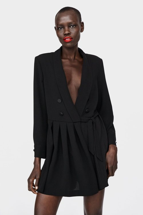 Mono negro botones Zara primaverva-verano 2019