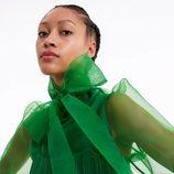 Blusa verde Zara primavera-verano 2019