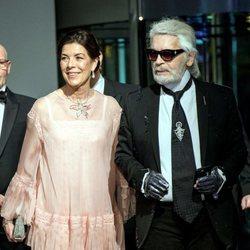 Karl Lagerfeld y la Princesa Carolina de Mónaco