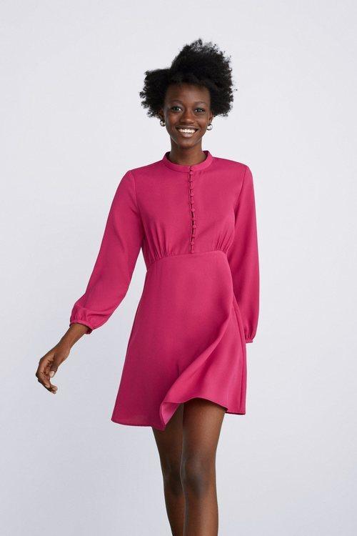 Vestido rosa Zara primavera-verano 2019