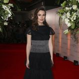 Keira Knightley en la premier de 'The Aftermaths' con un vestido negro con tul