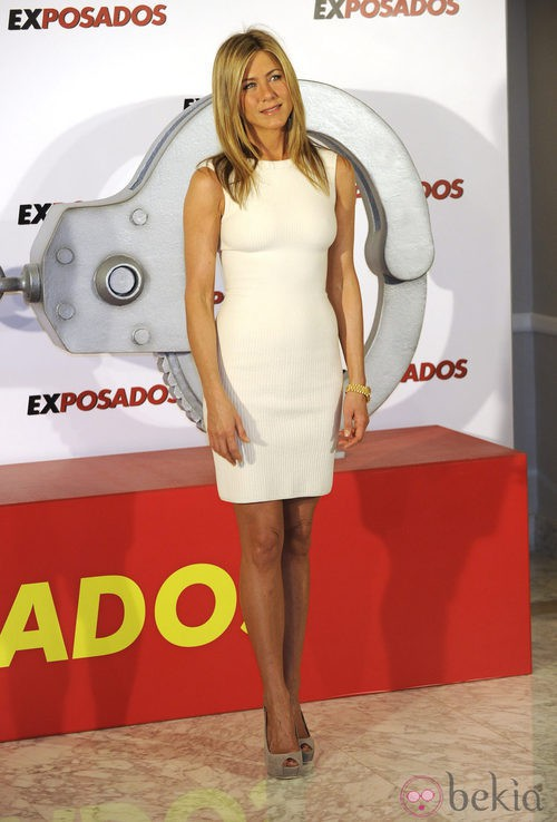 Jennifer Aniston en la presentación de 'Exposados' en España