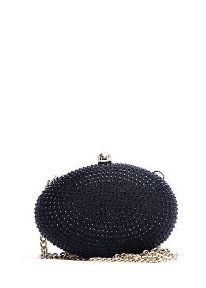Bolso glitter negro de Mango