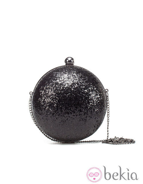 Bolso glitter negro de Zara