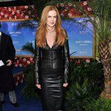 Nicole Kidman con un total look de cuero negro