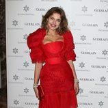 Natalia Vodianova con un look rojo 100%