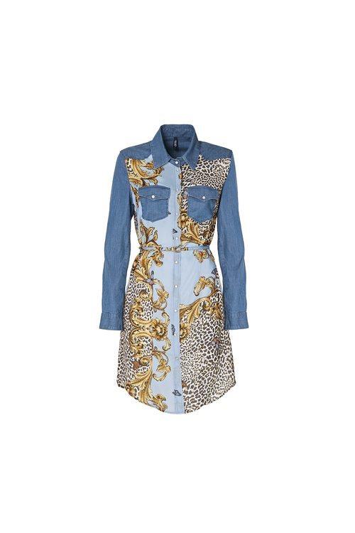 Vestido vaquero con estampado de la colección 'Blue Denim' de Liu Jo