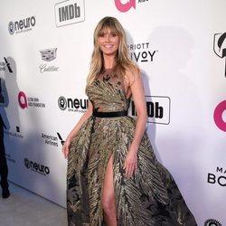 Heidi Klum con un vestido lleno de volumen de Elie Saab