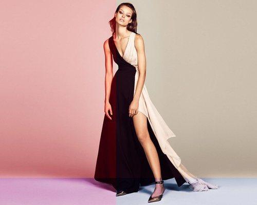 Vestido bicolor de la colección primavera/verano 2019 de Blumarine