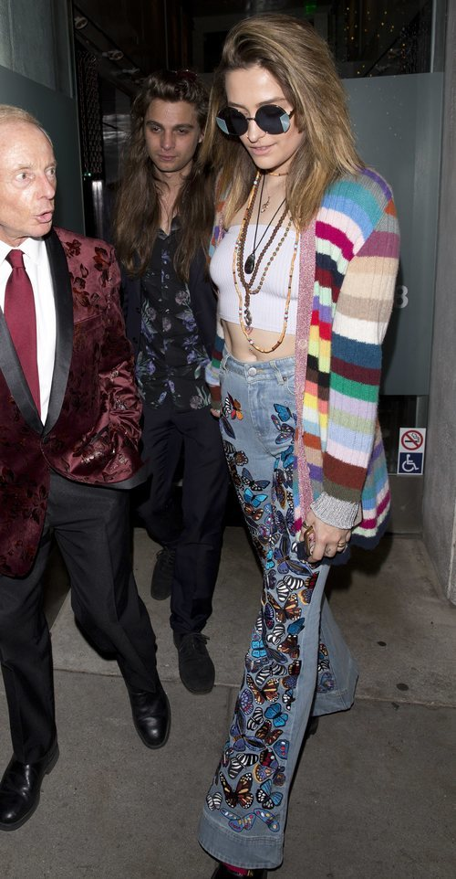 Paris Jackson look hippie