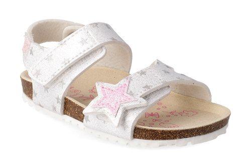 Sandalias plateadas de estrellas de Garvalín
