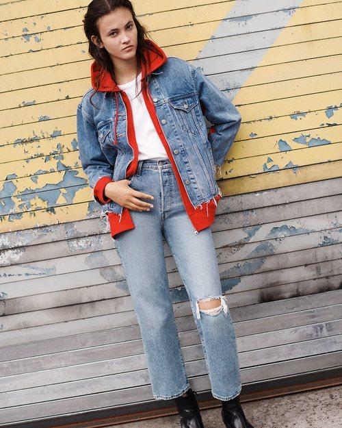 Jeans con un roto nueva colección de Levi's
