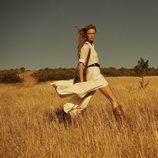 Vestido blanco de la colección primavera/verano 2019 de Massimo Dutti