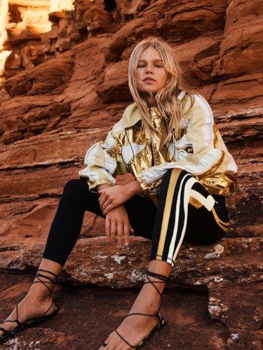 Chaqueta dorada de la colección Studio primavera/verano 2019 de H&M