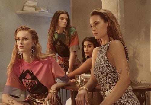 Modelos en la campaña de de la colección de primavera 2019 de Chloé