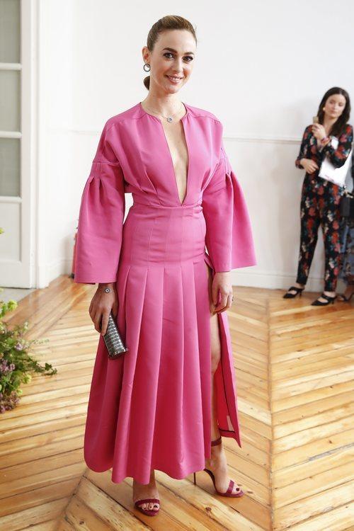 Marta Hazas con vestido rosa
