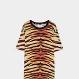 Camiseta estampado animal tigre Bershka