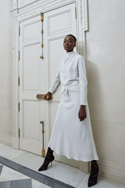 Vestido midi blanco de Pertegaz otoño/invierno 2019/2020