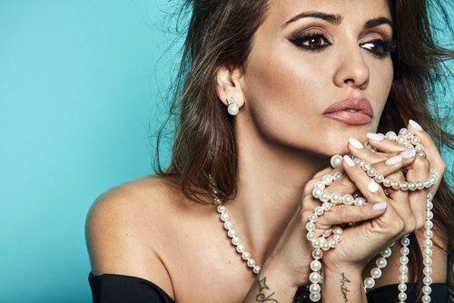 Mónica Cruz con collar 'Fancy' de la colección de Majorica Primavera/Verano 2019