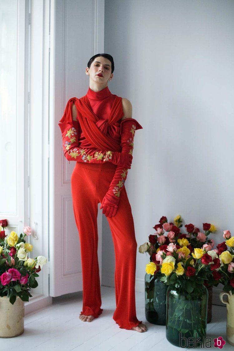 Mono rojo de la colección 'Orlando' por Palomo Spain